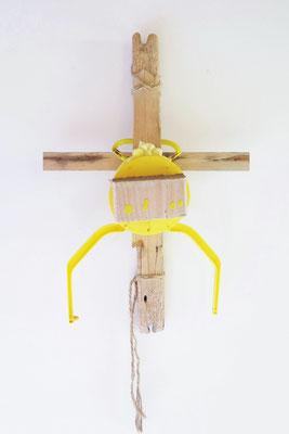 Kruisbeeld met kikker 60x30x10cm 95,-