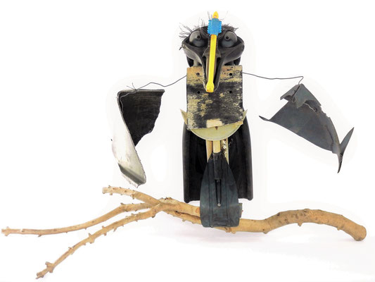 Vreemde vogel 80x130x70cm 450,-