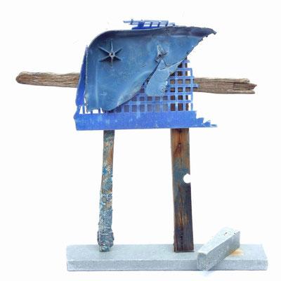 Soort van Blauw (ene kant) 70x70x20cm 275,-