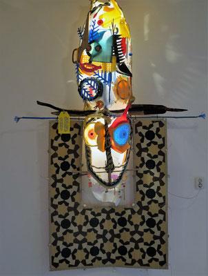 The Spirit of Jazz Wandobject) 270x180cm 4500,-