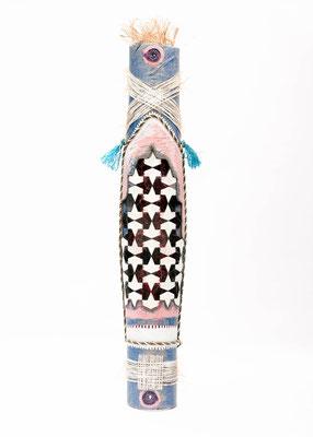 Schild met mozaiek (staand) 160x30x12cm 825,-