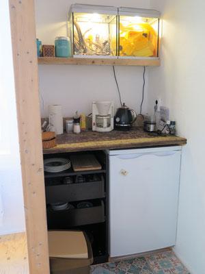 Koffie- en thee hoek voor de gasten van de Museumkamer