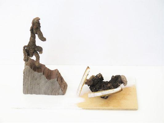 Drama sculptuur 15x45x60cm 125,-