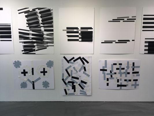Streifen als Kompositionselemente zu Hannah Regenbergs Siebdruck Serie