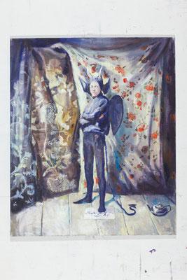 """Rosenteufel"""", 2017, 180 x 150 cm"