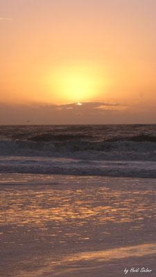 Fächersonne über der Sonne
