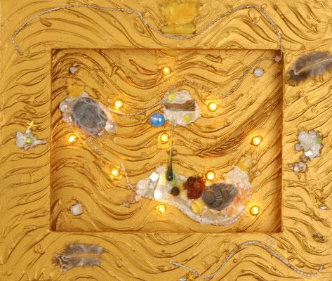 Goldener Fluss Lichter