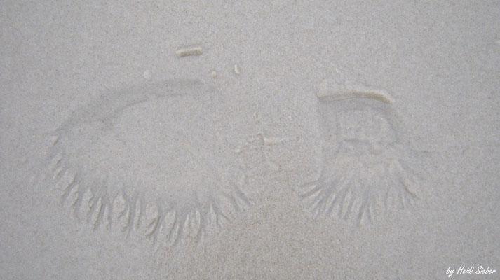 Meine Fußspur nach 1 Welle