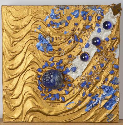 Goldener Fluss Lapislazuli
