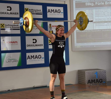 Britta Fürle - Bestleistung mit 59 kg Reißen