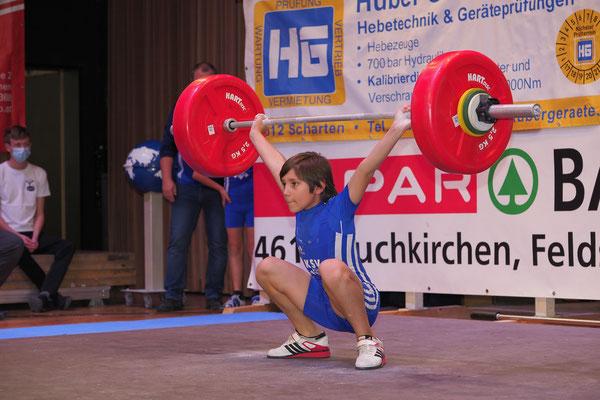 Maximilian am Weg zur Goldmedaille