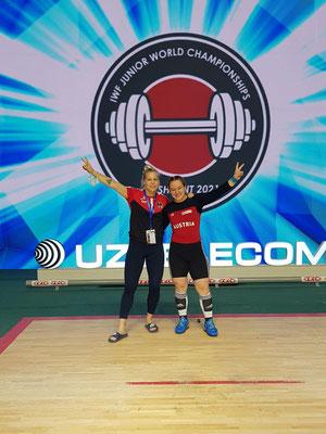 Victoria Steiner mit Bundestrainerin Victoria Hahn