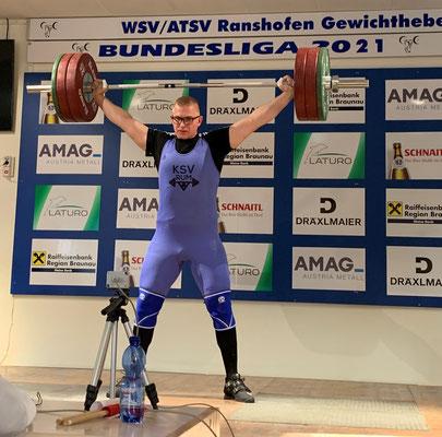 Julian bei 145 kg Reißen