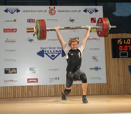 Armin Ritzer bei seinem Rekord mit 151 kg Stoßen
