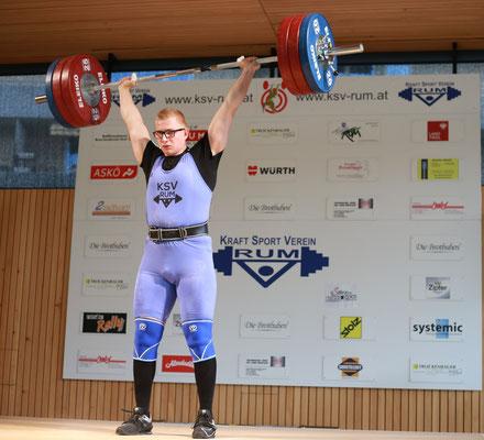 Julian Heidenbauer - geschafft - 165 kg sind oben
