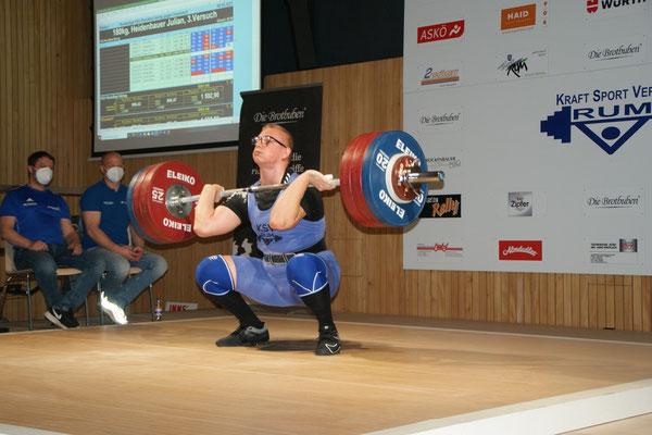Julian Heidenbauer beim Umsatz von 180 kg