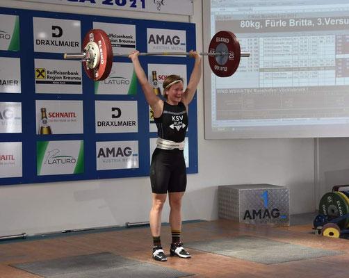 Britta Fürle - Bestleistung 80 kg Stoßen