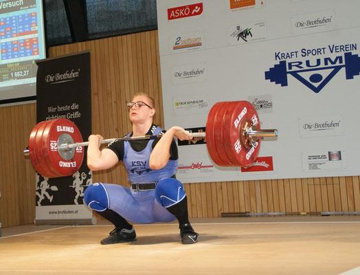 Julian Heidenbauer bei 180 kg umsetzen