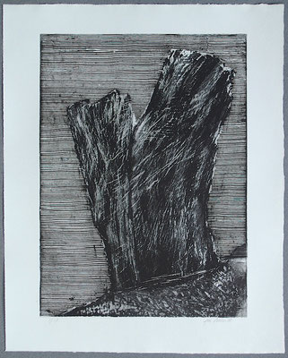 Baum 3 - Radierung, 2008, versch. Techniken ca 32x25 auf 47x37 cm, Auflage 17