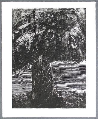 Baum 1 - Radierung, 2008, versch. Techniken ca 32x25 auf 47x37 cm, Auflage 17