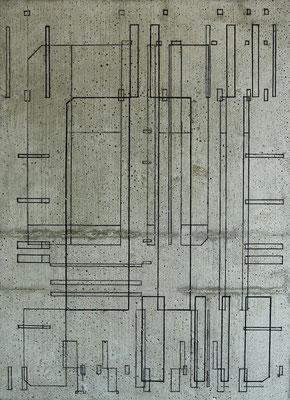 Zeichnung IV - Marker auf Beton - 70 x 50 x 5 cm - 2014