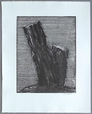 Baum 2 - Radierung, 2008, versch. Techniken ca 32x25 auf 47x37 cm, Auflage 17