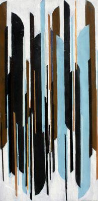 Perspektivische Harmonie 2 - Sprühlack/Acryl auf Leinwand - 100 x 50 cm - 2013
