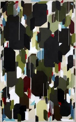 Harmonie, un/regelmäßig 2 - Sprühlack/Acryl auf Leinwand - 140 x 100 cm - 2013