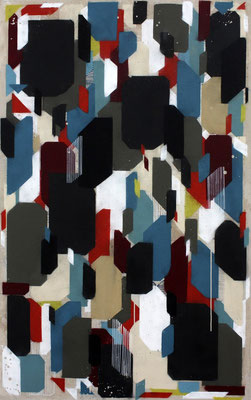 Harmonie, un/regelmäßig 1 - Sprühlack/Acryl auf Leinwand - 140 x 100 cm - 2013