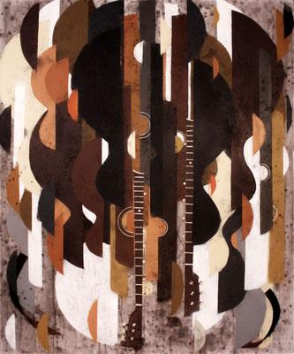 Heartbeat - Sprühlack, Acryl auf Leinwand - 120 x 100 cm - 2013