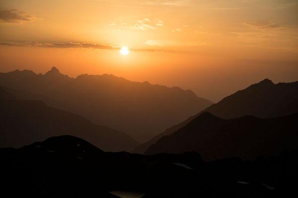 Die Zimba im Sonnuntergang - Montafon