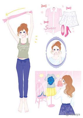女性イラストoriginal : 「モヤモヤイメージ」