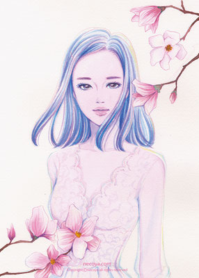 "Aphrodite :木蓮「自然への愛」""貴方はそのままの姿で咲いているだけで美しい"""