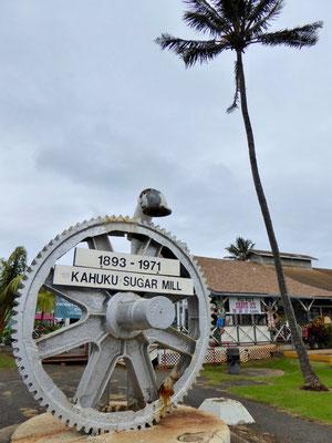 カフクにあるシュガーミル(砂糖工場)の跡地は Kahuku Sugar Millとしてショッピングエリアに。