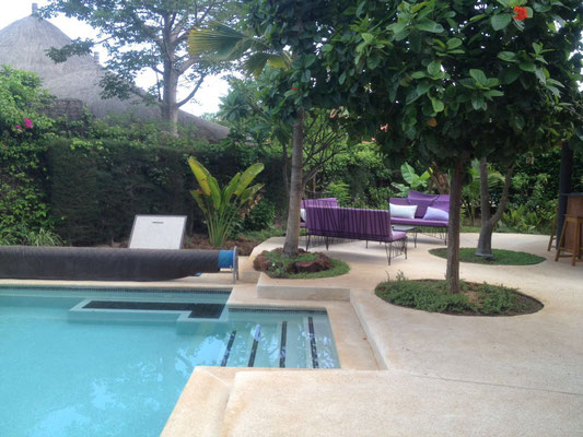Balnéo de la piscine