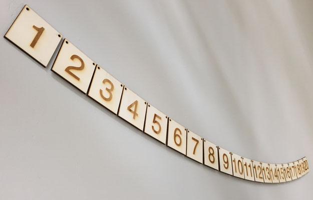 Houten getallenlijn t/m 20