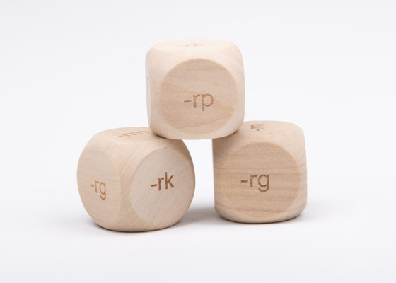 Dobbelsteen spelling - spellingscategorie kleefletters rp, rg, rf, rm, rn, rk