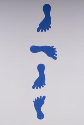 Stickers voetstappen links - bewegend leren
