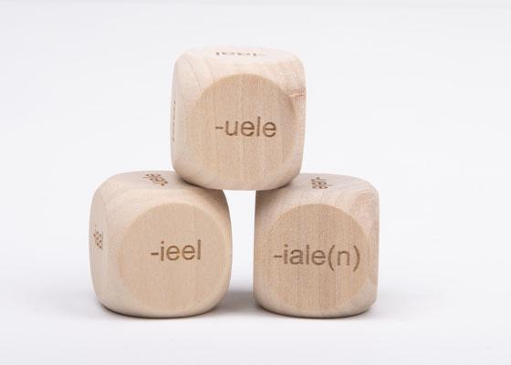 Dobbelsteen spelling - spellingscategorie ueel, ieel, iële, iaal, uele, iale(n)