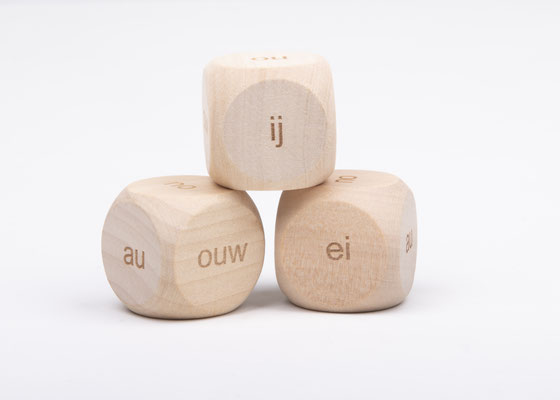 Dobbelsteen spelling - spellingscategorie ei, ij, au, auw, ou, ouw