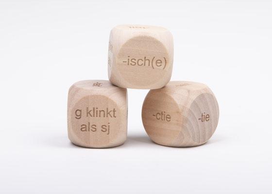 Dobbelsteen spelling - spellingscategorie heid, teit, isch(e), tie, ctie, g als sj