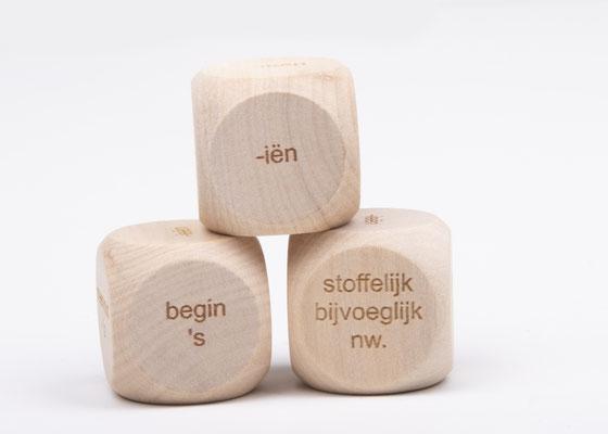 Dobbelsteen spelling - spellingscategorie begin 's, iën, ieën, eeën, eind 's, stoffelijk bijvoeglijk naamwoord