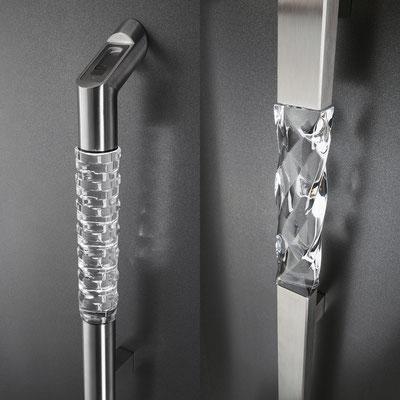 Griffe mit Kristall und LED möglich