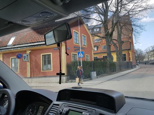 ...Ankunft in Uppsala