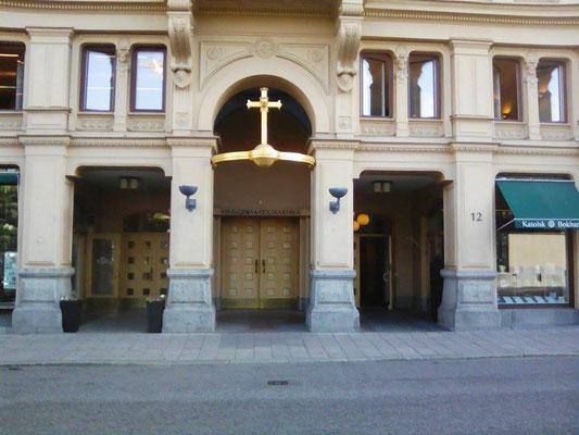 Der Eingang zu St.Eugenia, etwas versteckt