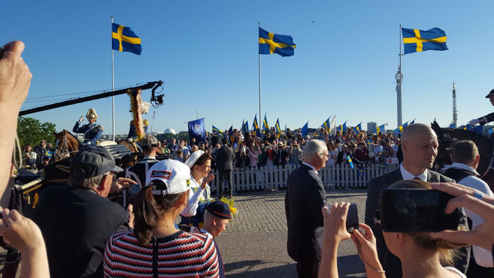 Das schwedische Königspaar beim Nationalfeiertag am 6.Juni