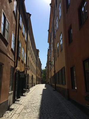 Gasse in Gamla Stan in Stockholm