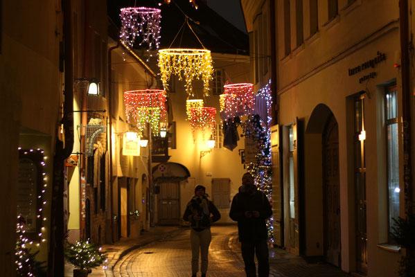 Lichtermeer in Vilnius