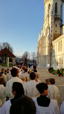 Messdiener aus Bergen vor Klosterneuburg