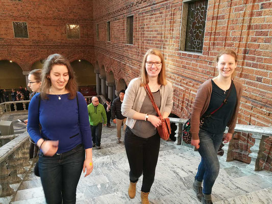 Raphaela Polk, Anne Hemken und Maris Lohmölller im Stadshuset